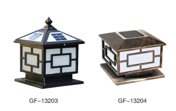 首页 劲辉照明产品中心 产品类别 太阳能柱头灯 太阳能柱头灯gf-13201