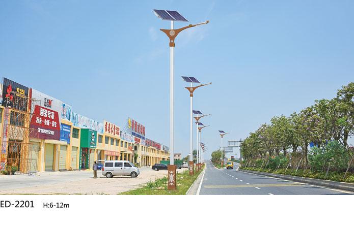 太阳能led路灯在新农村地区投放的现状
