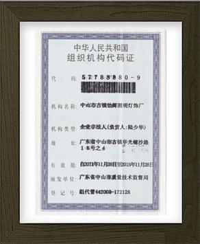劲辉·组织机构代码证