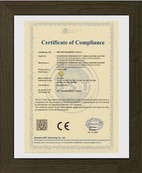 劲辉照明产品CE认证