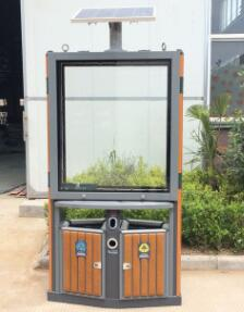 太阳能广告垃圾箱JH-902