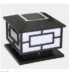 太阳能柱头灯BE-5001