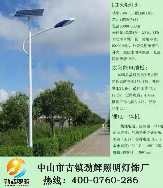 农村专用太阳能路灯JH-801