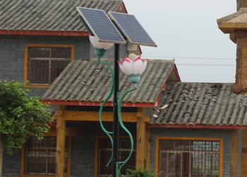 【案例】旅游文化村景观太阳能庭院灯工程
