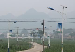 【案例】太阳能路灯照亮广西桂平新农村