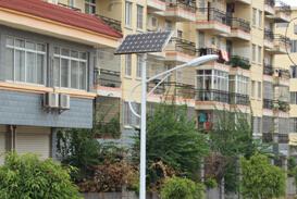 【案例】南宁市小区太阳能路灯照明工程