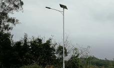 【案例】太阳能路灯在广西钦州市浦北县张黄镇已成功安装完毕